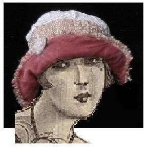 Chapeau rose style années 20, création Karine L., PerleQuiRoule