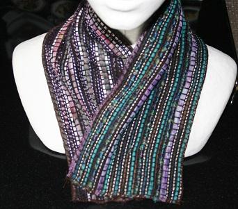 col violet tweed Chanel