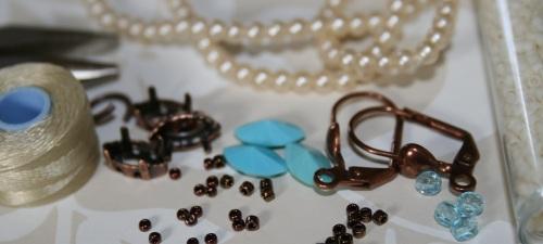 tissage de perles en préparation