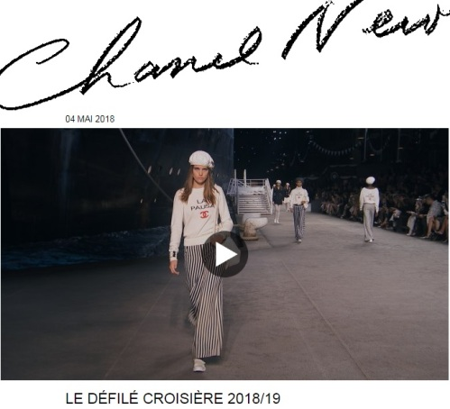 defile Chanel Croisiere 2018/19