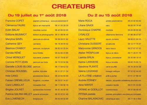 liste des exposants
