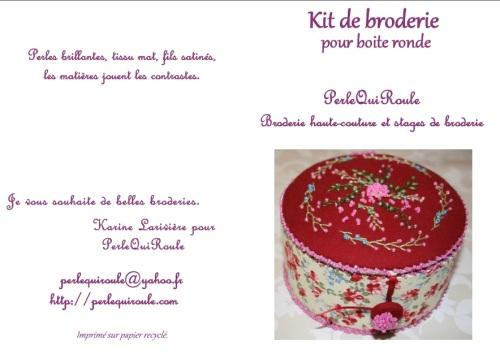 kit broderie pour boite ronde