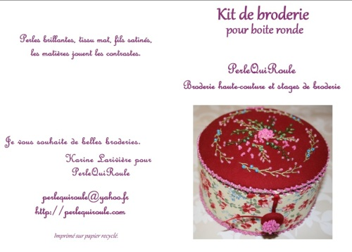 kit broderie pour boite ronde