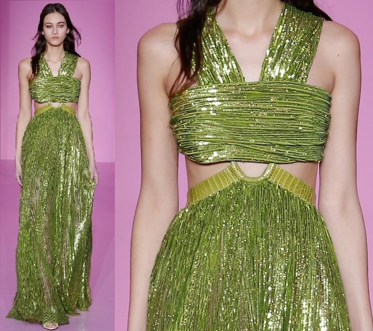 Givenchy : paillettes crochet et aiguille