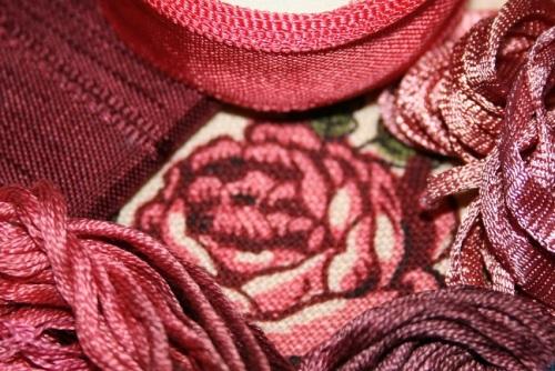 Matières kit broderie - roses