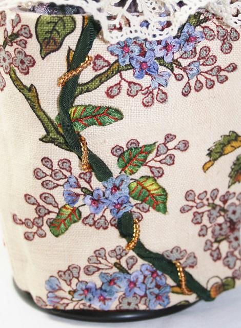 Broderie au ruban Fleurs de lilas