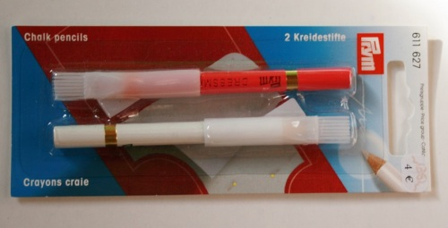 Crayons craie Rose et Blanc Prym
