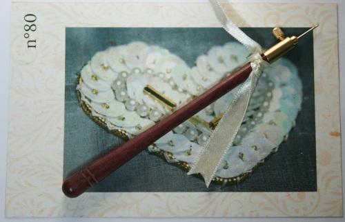 Crochet de Lunéville n°80 Bois d'amarante