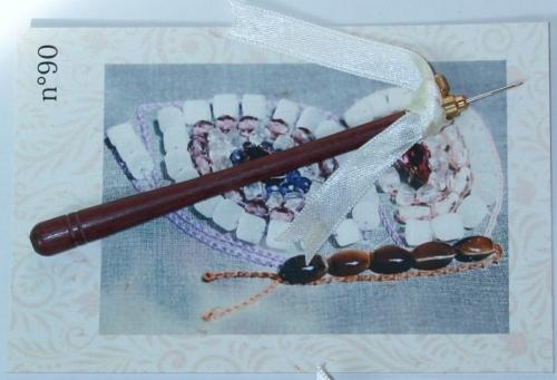 Crochet de Lunéville n°90 Bois amarante