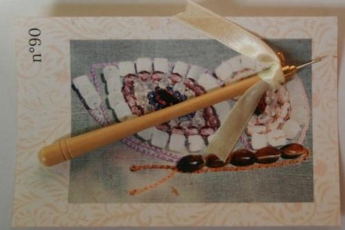Crochet de Lunéville n°90 Bois clair