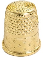 Dé à coudre doré Bohin