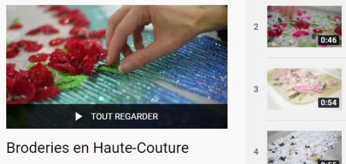YouTube Broderies en Haute Couture