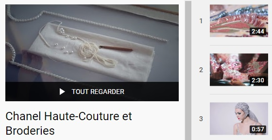 Playlist Chanel Haute-Couture et Broderies