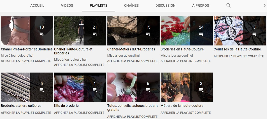 YouTube PerleQuiRoule Broderies Haute-Couture